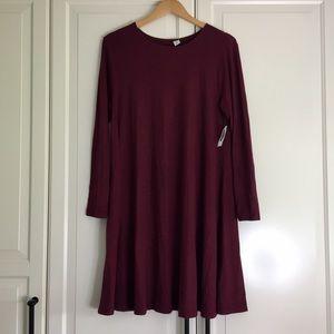 🔥2 for $40🔥 Old Navy Burgundy Plush Dress